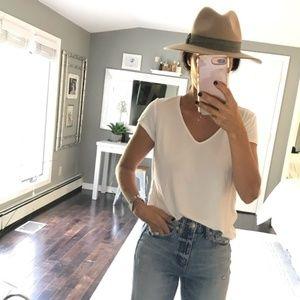 Catherine Malandrino Classic White V Neck T Shirt
